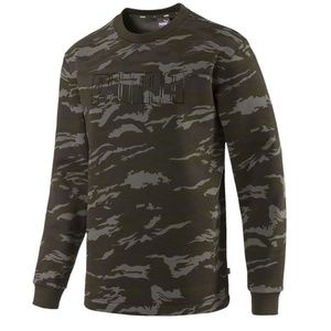 Puma Camo Fleece Crewneck Active Sweatshirt